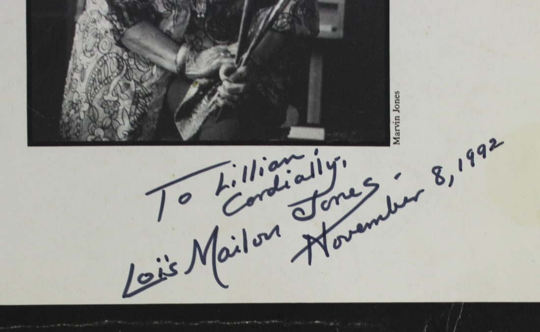 Book Signed by Lois Mailou, The World of Lois Mailou