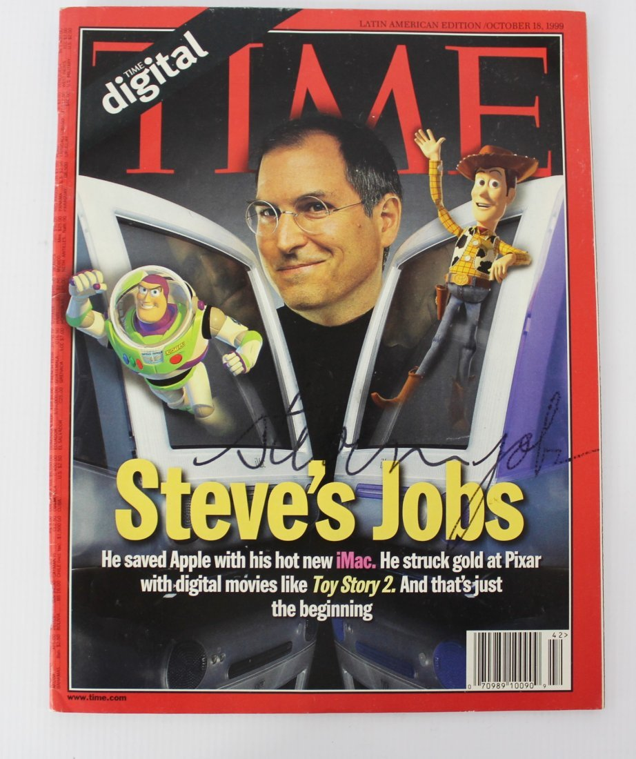 TIME Magazine Signed by Steve Jobs