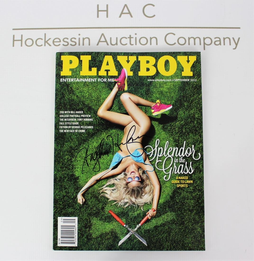 Playboy Magazine Signed by Hugh Heffner