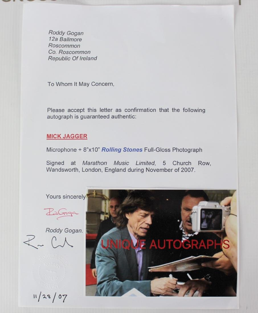 Signed Microphone (Mick Jagger) - 4