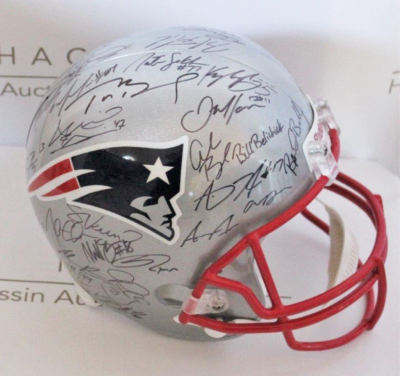 Helmet Signed by Patriots Team