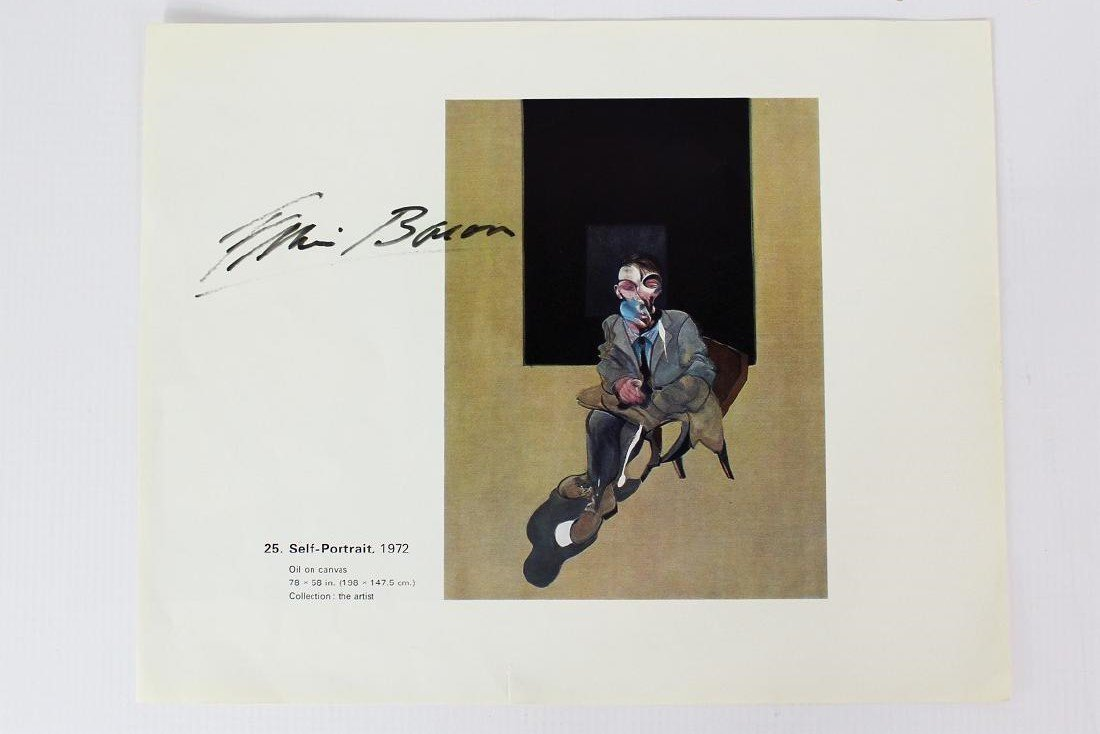 Francis Bacon Signed Page