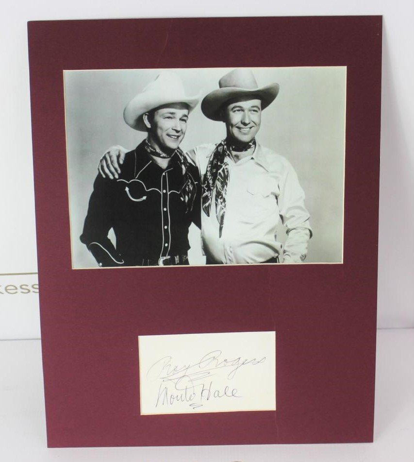 Roy Rogers and Monte Hale Autograph and Photo