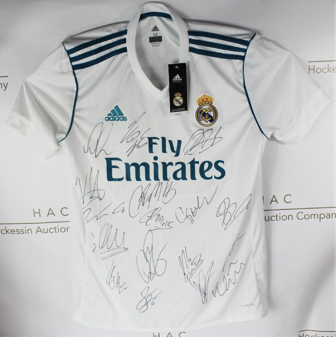 Real Madrid Team Signed Soccer Jersey