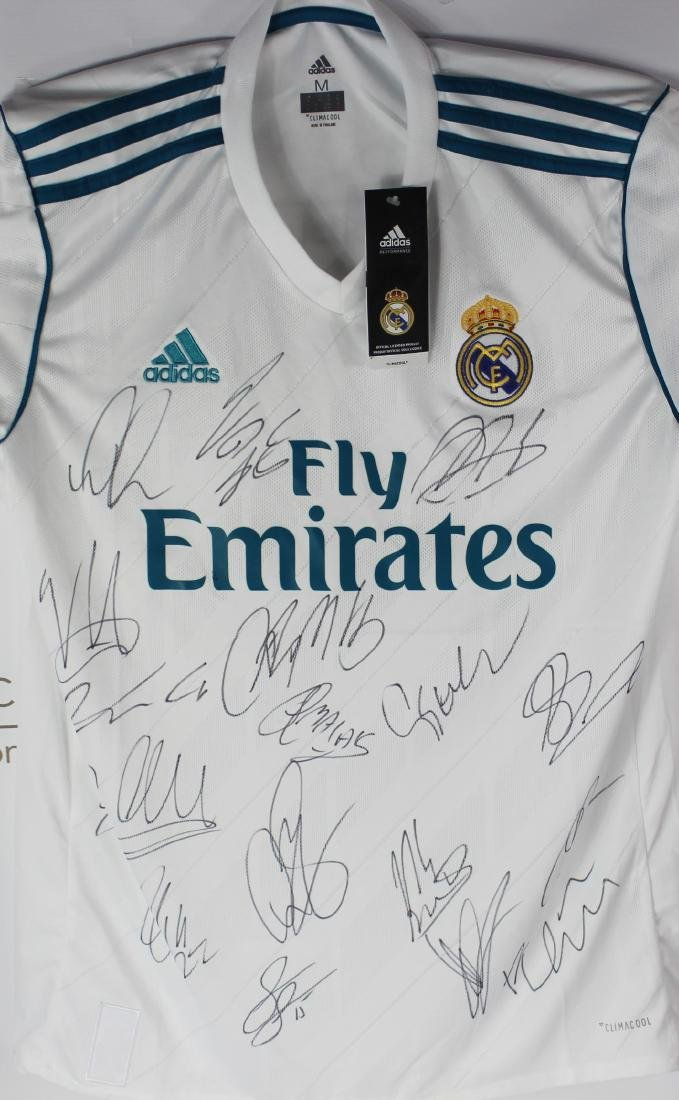 Real Madrid Team Signed Soccer Jersey - 2