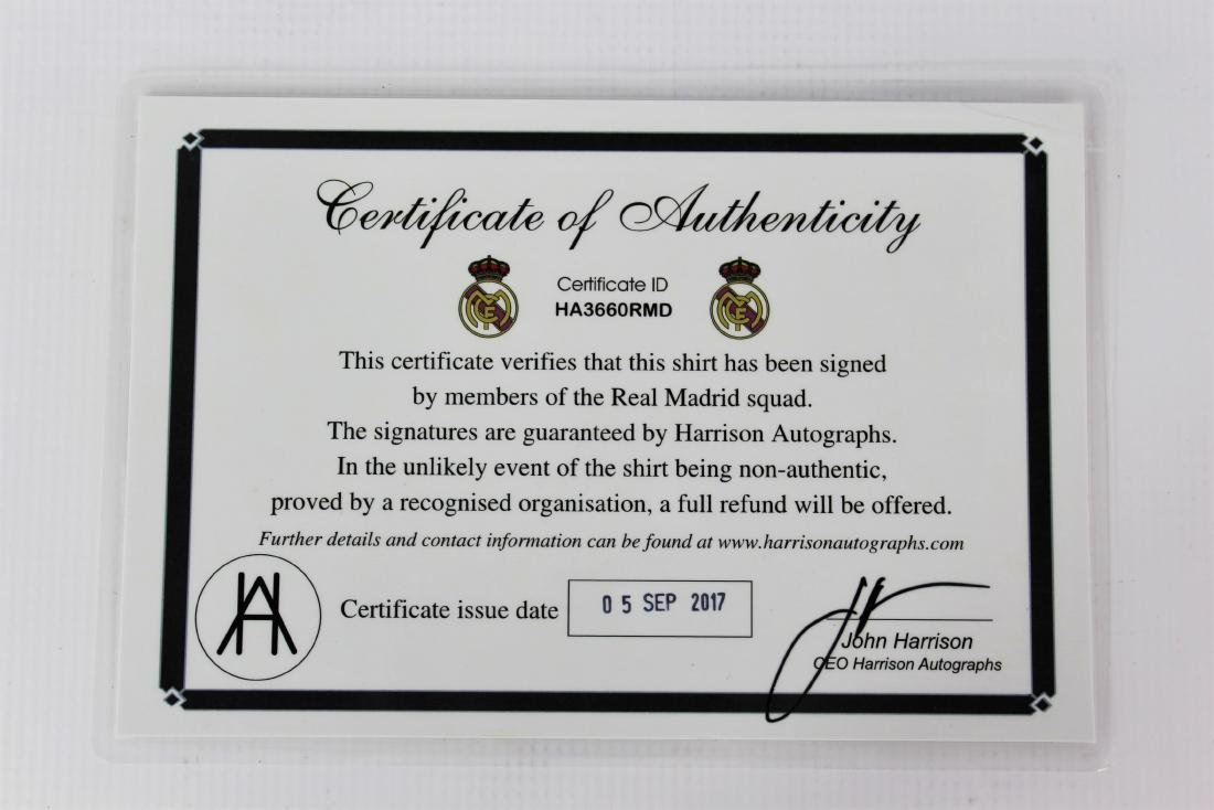 Real Madrid Team Signed Soccer Jersey - 5