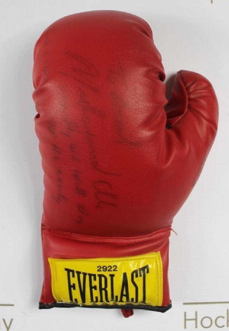 Boxing Glove Signed by Muhammad Ali - 4