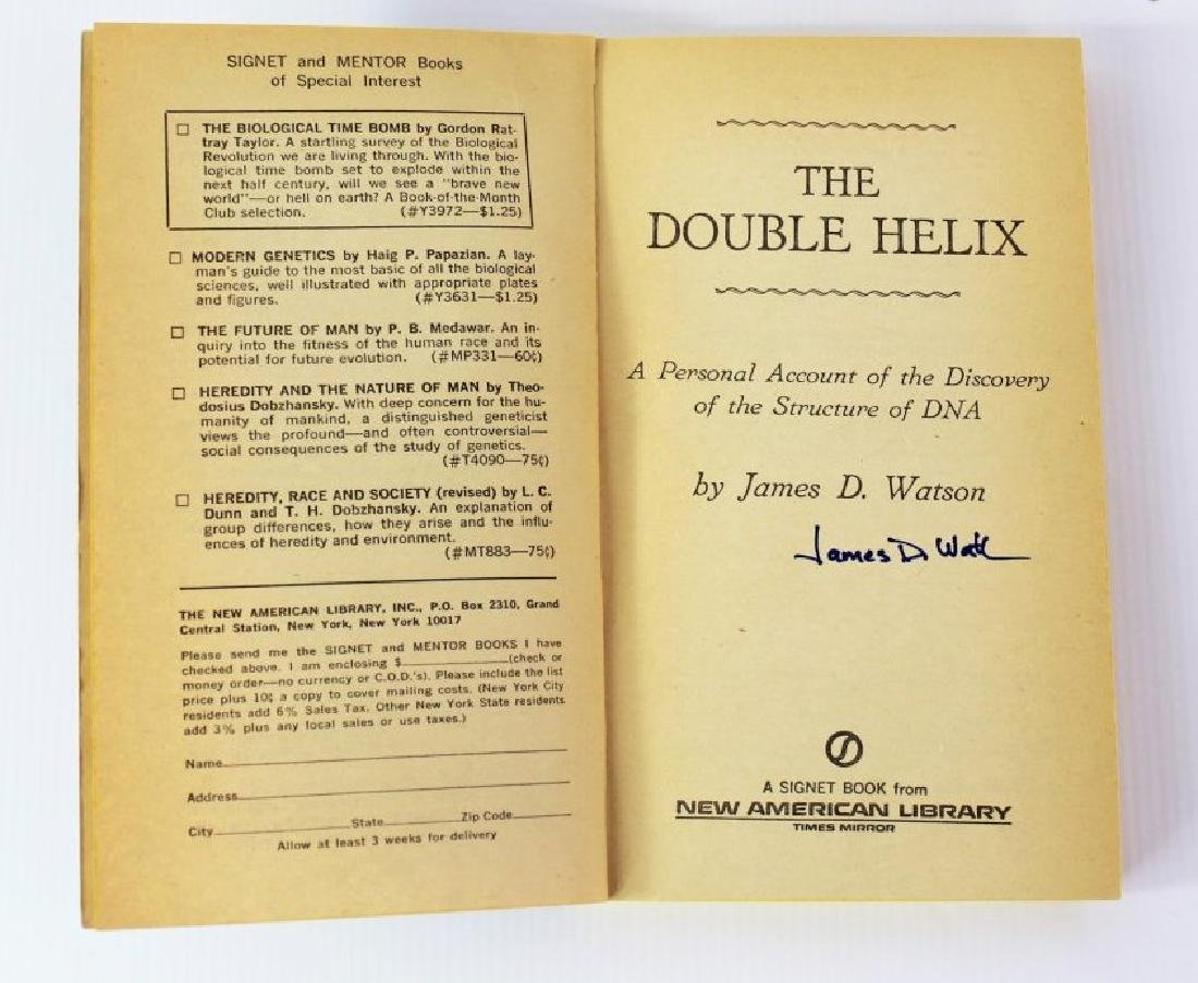 Book Signed by James D. Watson