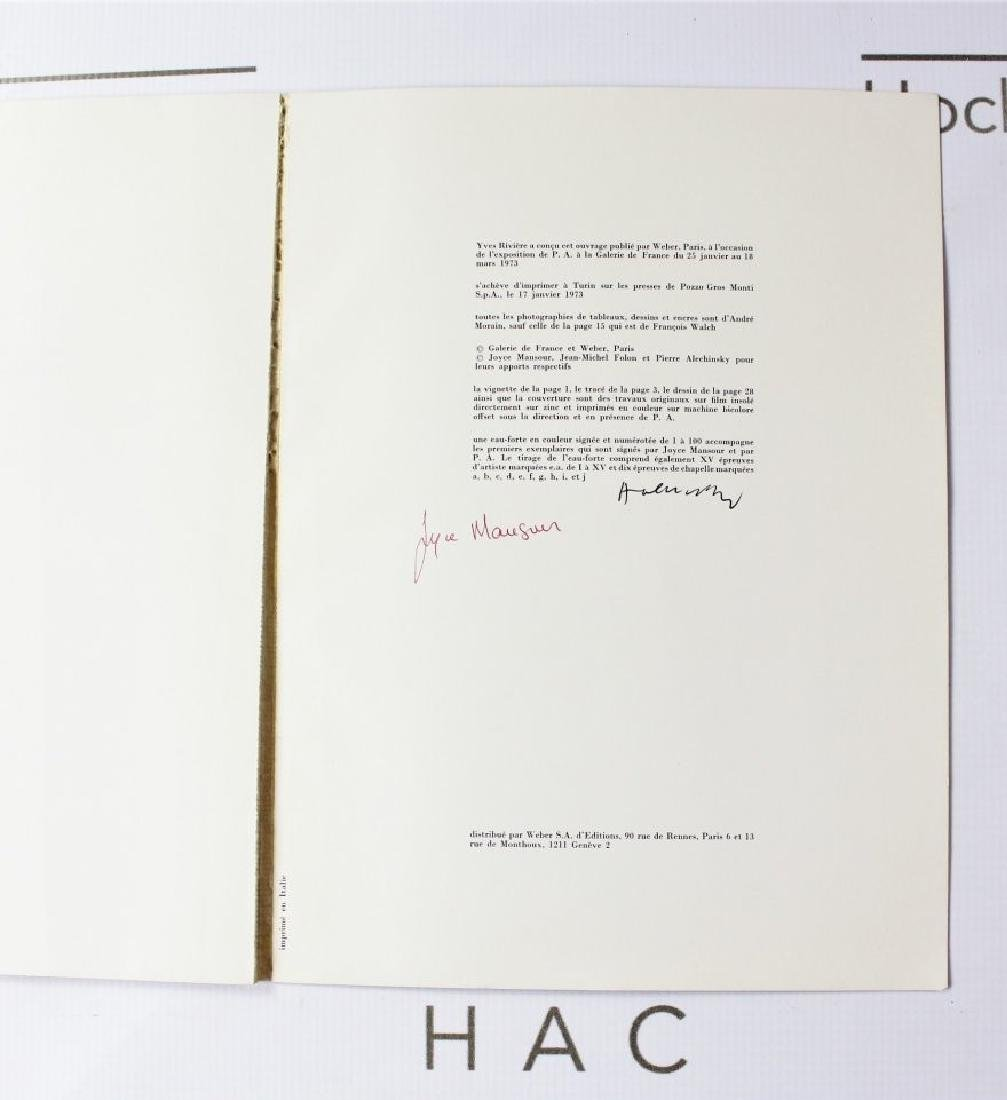 Book Signed by Pierre Alechinsky and Joyce Mansour - 2