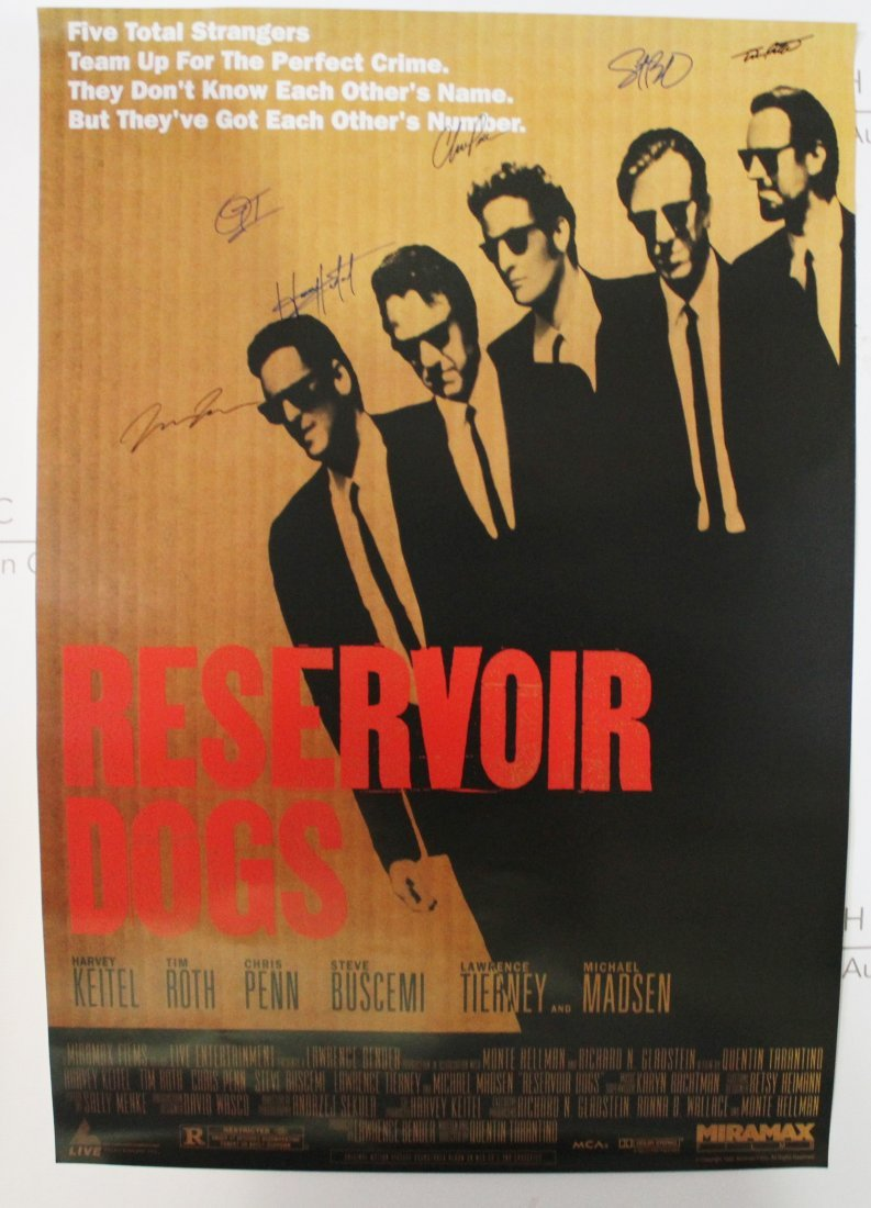 Reservoir Dogs Movie Signed Poster