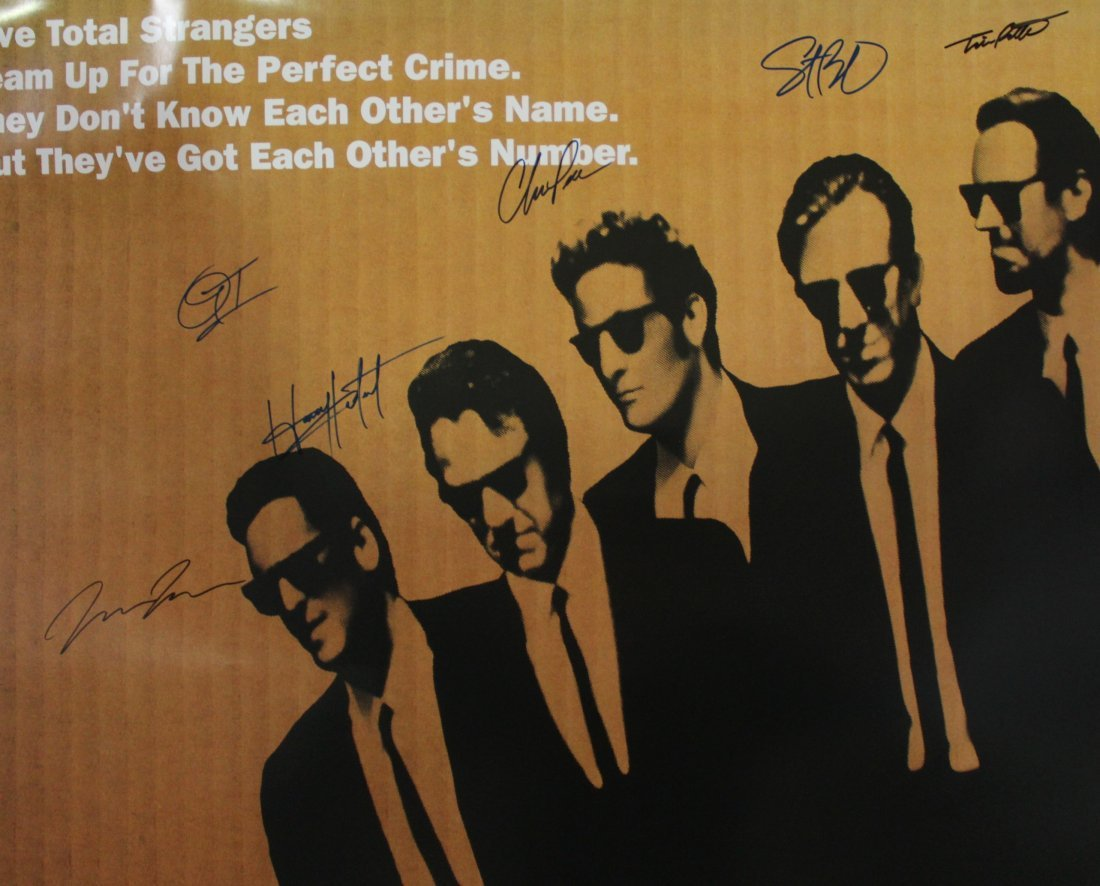 Reservoir Dogs Movie Signed Poster - 2