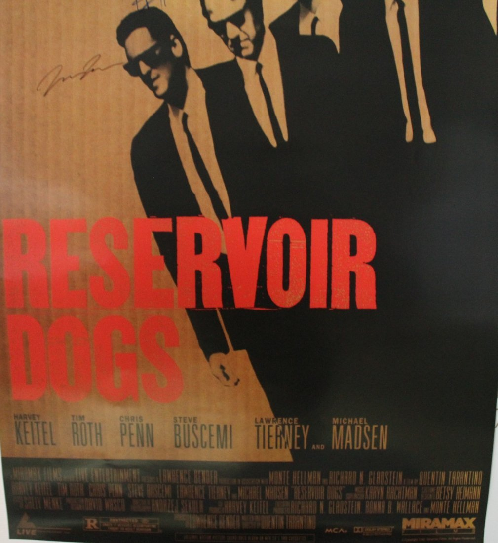 Reservoir Dogs Movie Signed Poster - 3