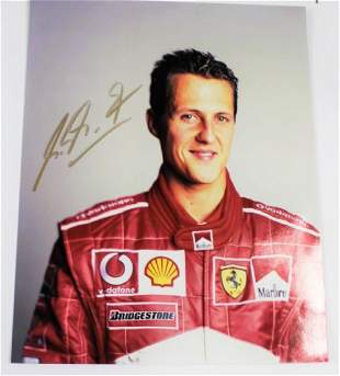 Photograph Signed by Michael Schumacher