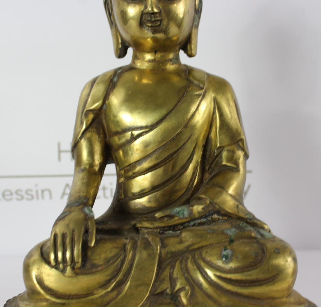 Chinese Bronze Budha - 4