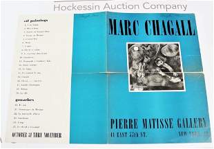 Pierre Matisse Exhibition Poster Marc Chagall