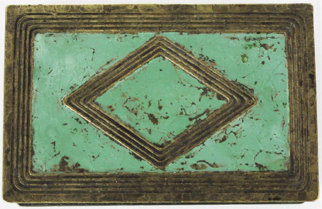 Antique Tiffany Studios Bronze Box - 4
