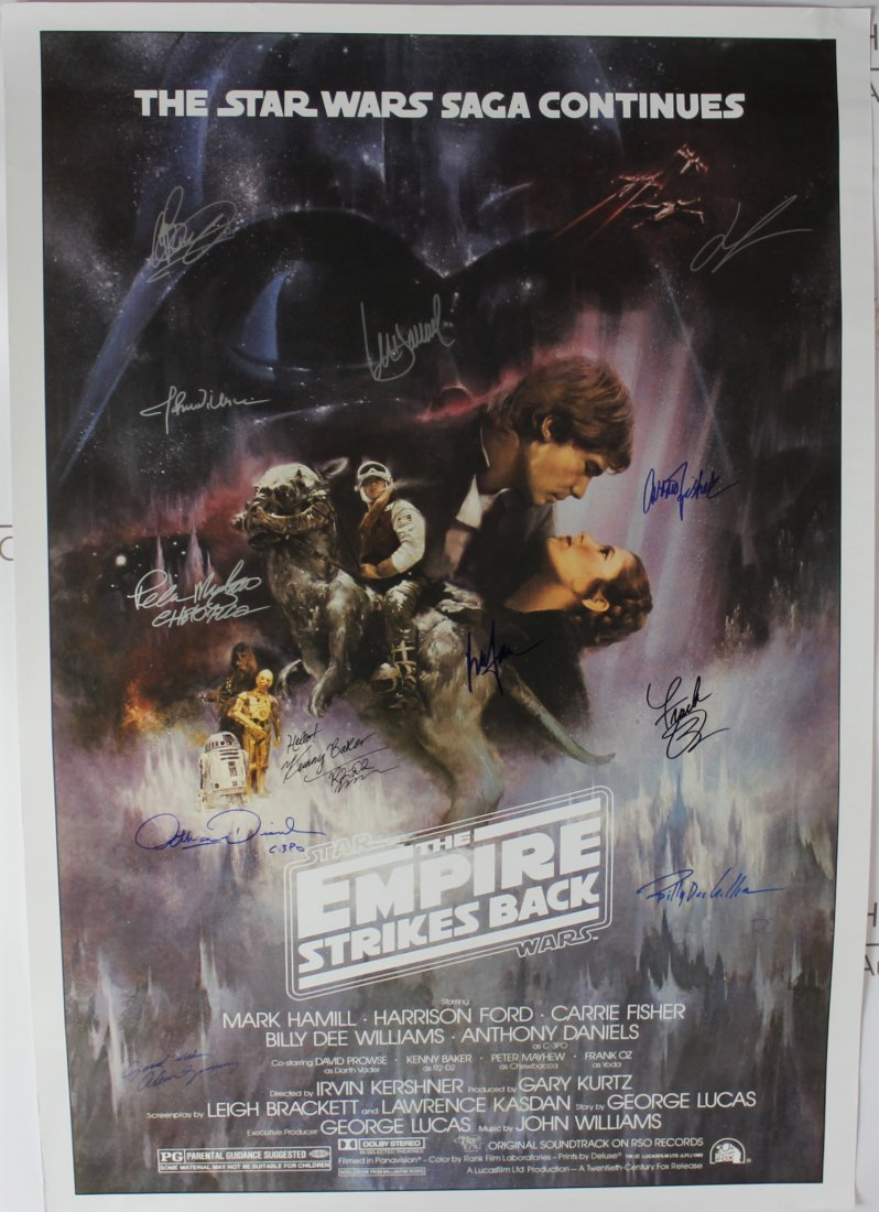 Star Wars Signed Poster (Empire Strikes Back)
