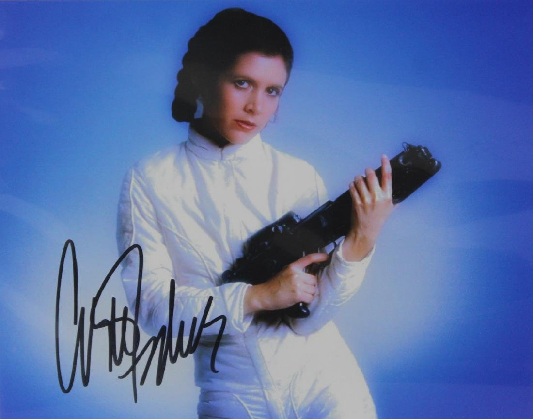 Photograph Signed by Carrie Fisher
