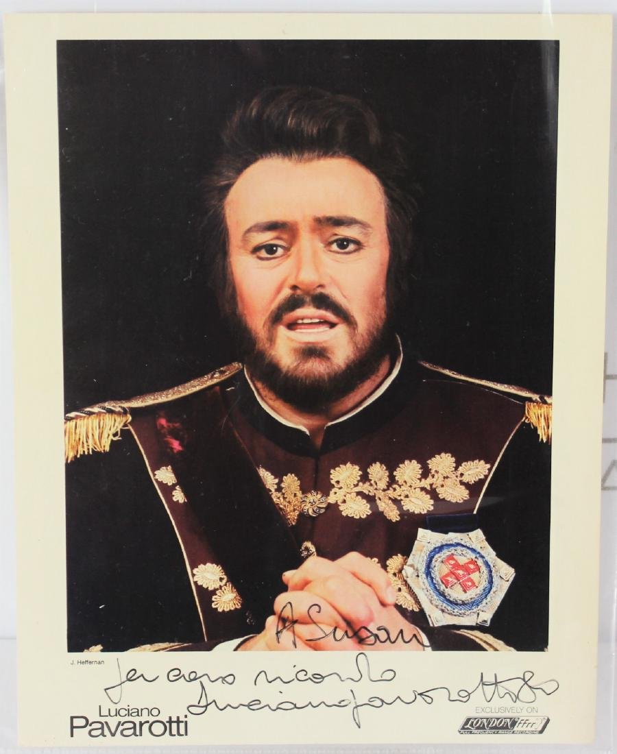 Photograph Signed by Luciano Pavarotti
