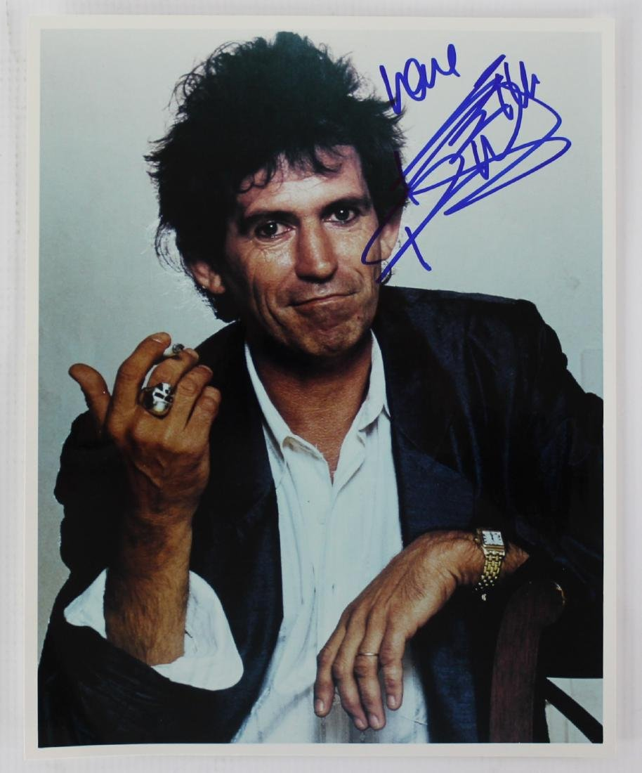 Photograph Signed by Keith Richards