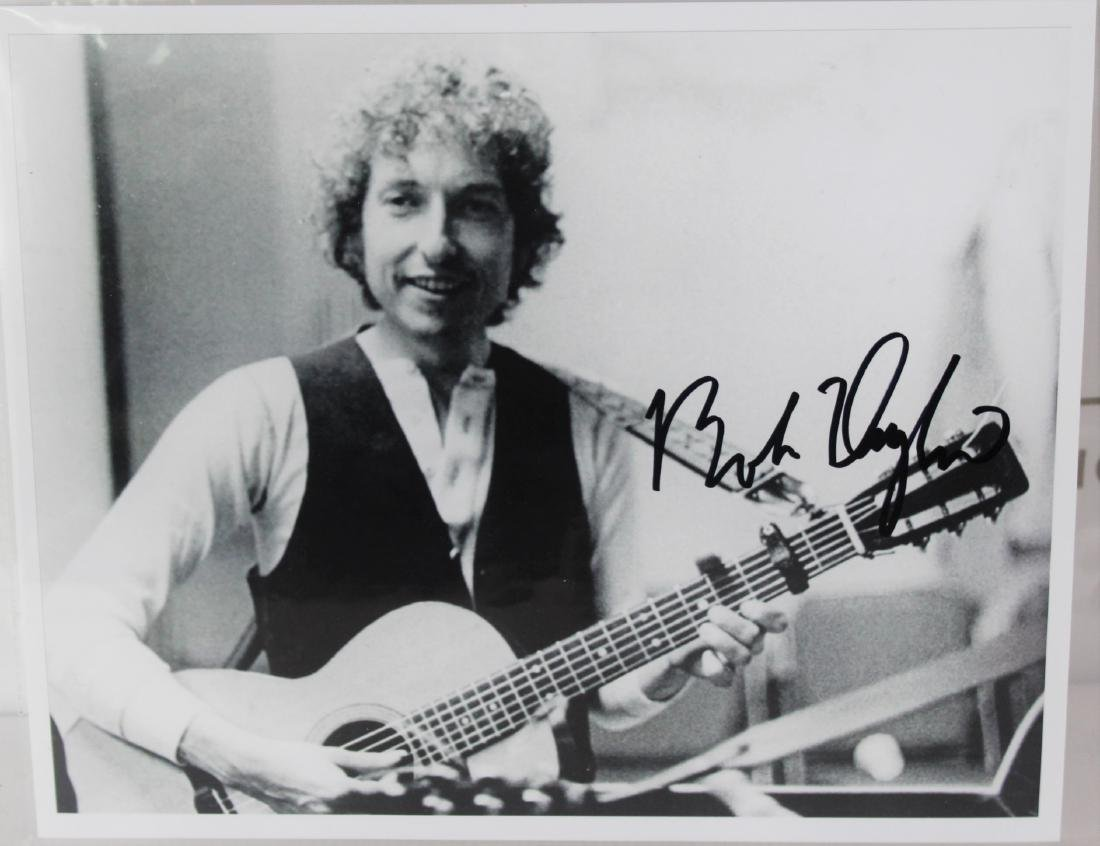 Photograph Signed by Bob Dylan