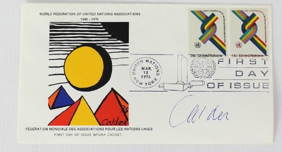 United Nations Wfuna Cachet Signed by Alexander Calder