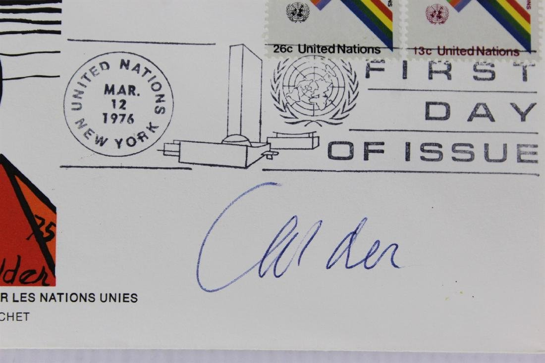 United Nations Wfuna Cachet Signed by Alexander Calder - 2