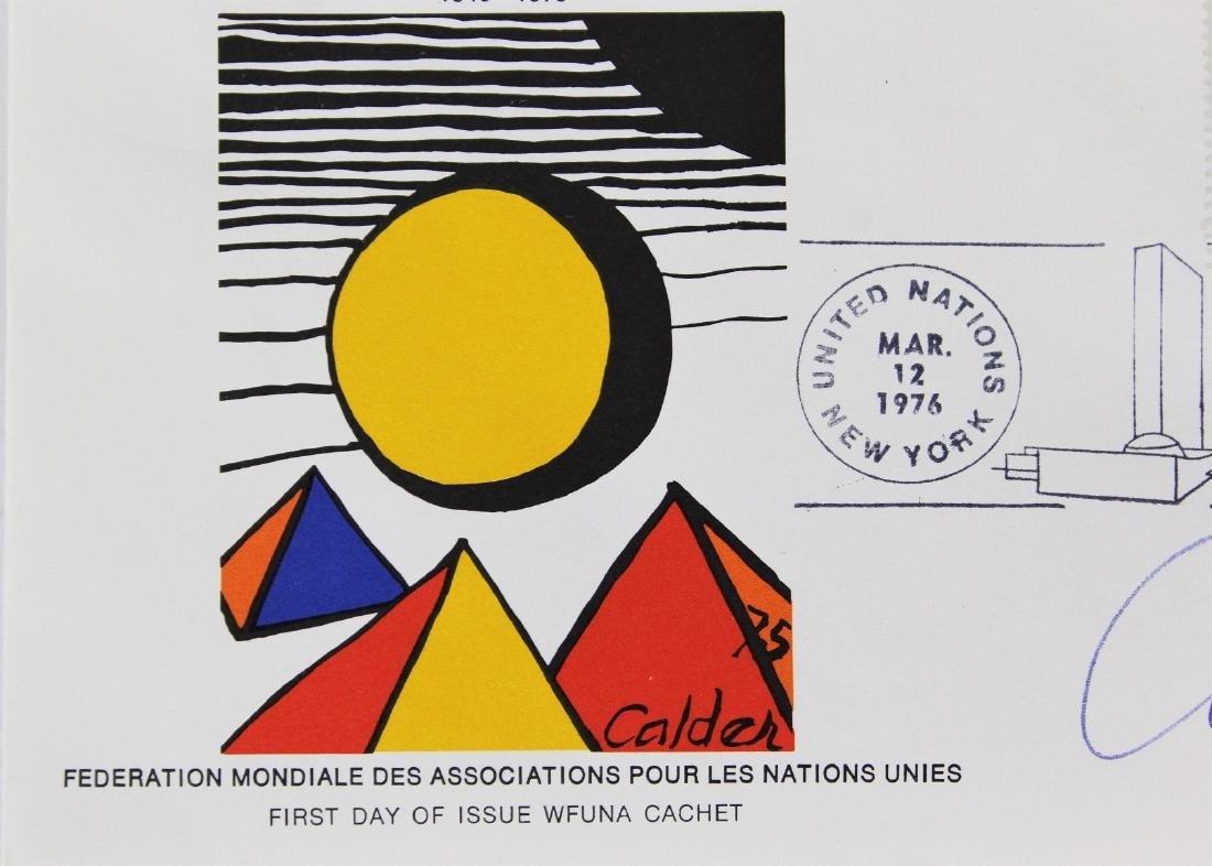 United Nations Wfuna Cachet Signed by Alexander Calder - 4