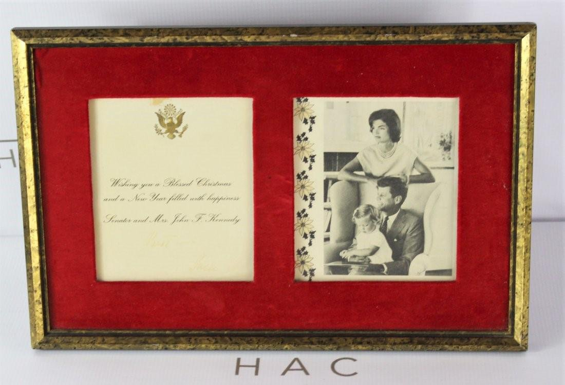 Christmas Card Signed by John F. Kennedy