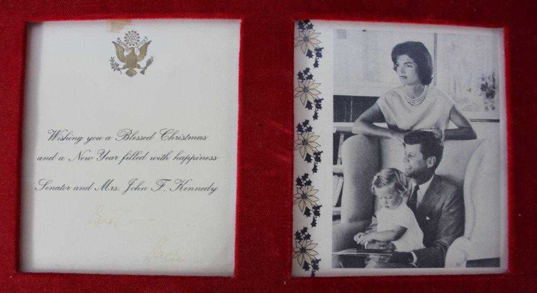 Christmas Card Signed by John F. Kennedy - 2