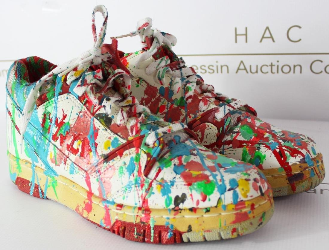 Dale Chihuly Painted Studio Shoes