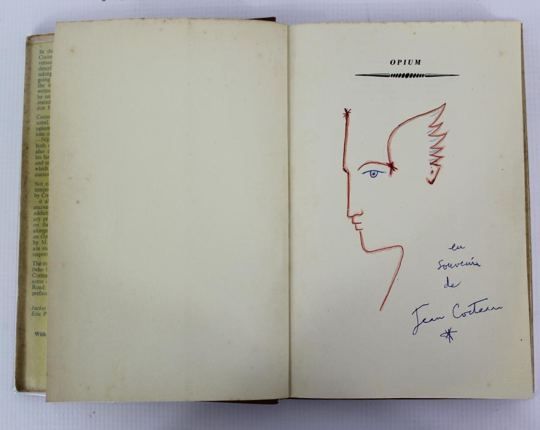 Book Signed by Jean Cocteau W/Drawing