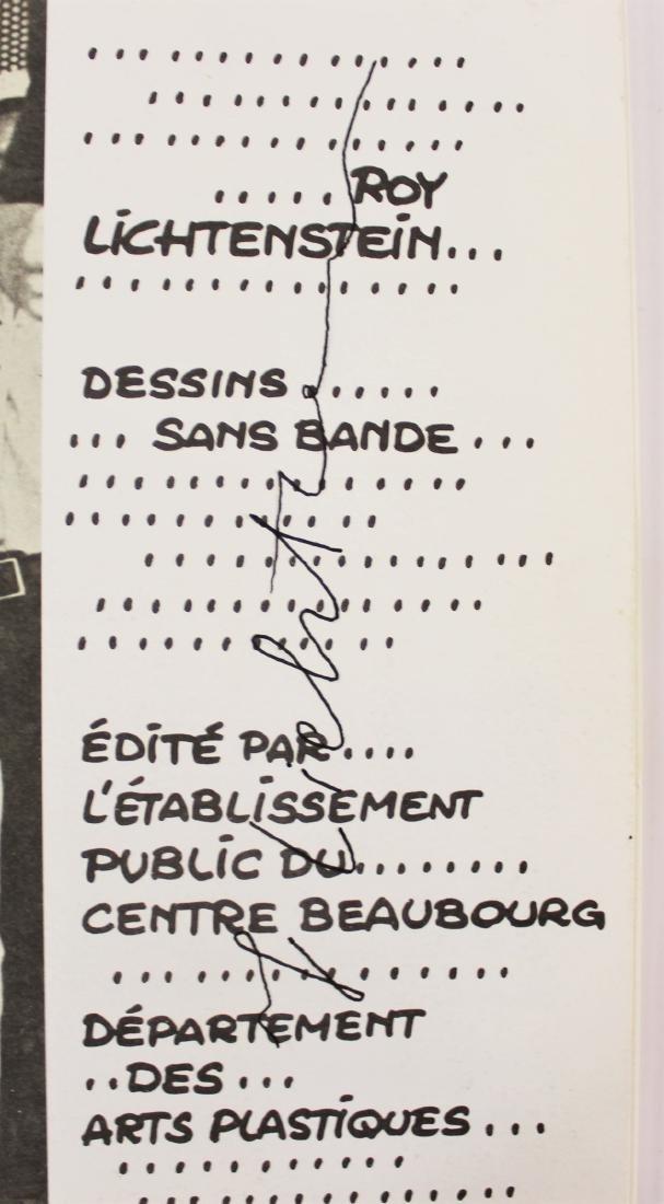 Book Signed by Roy Lichtenstein
