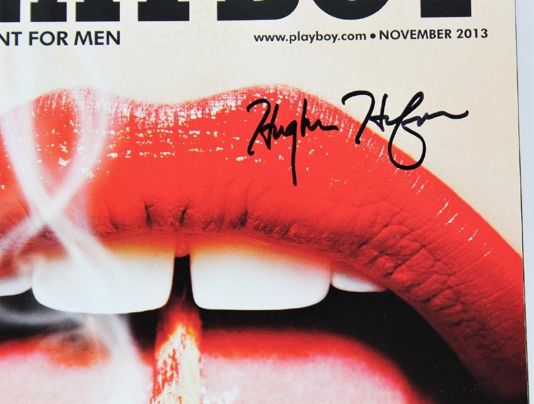 Playboy Magazine Signed by Hugh Heffner - 2