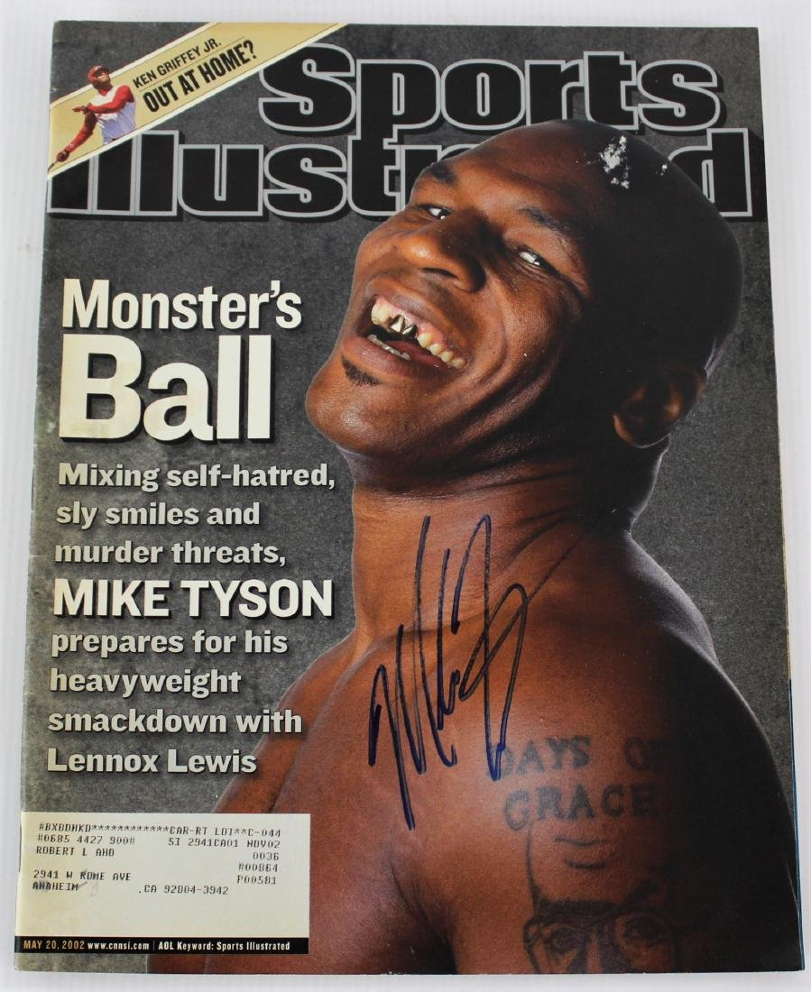 Sports Illustrated Magazine Signed by Mike Tyson