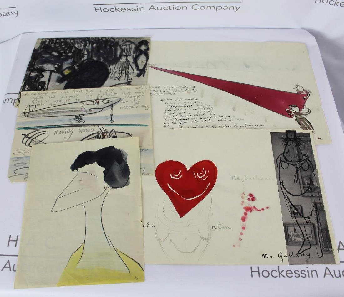 Robert Osborn Drawings Gifted to Curt Valentin