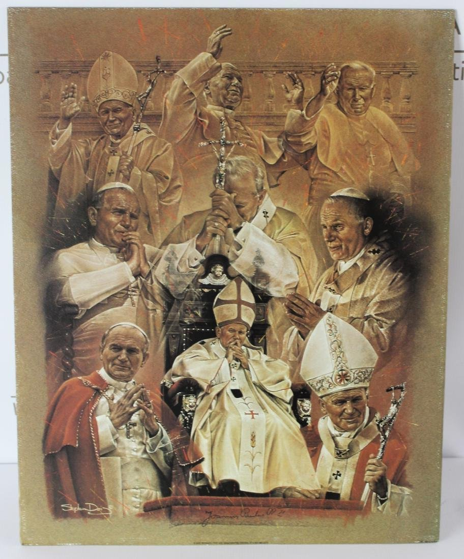Print Signed by Pope John Paul ll