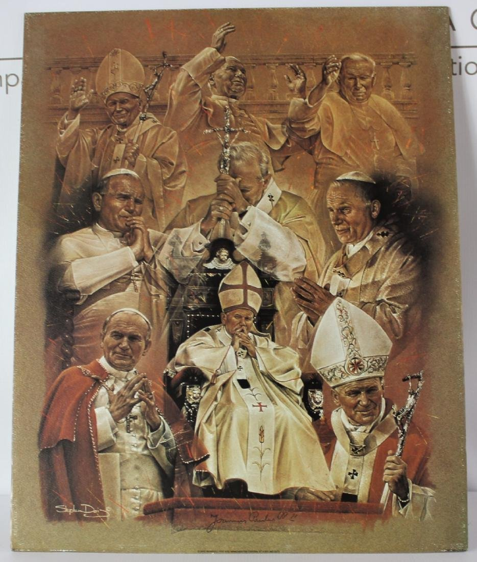 Print Signed by Pope John Paul ll - 2