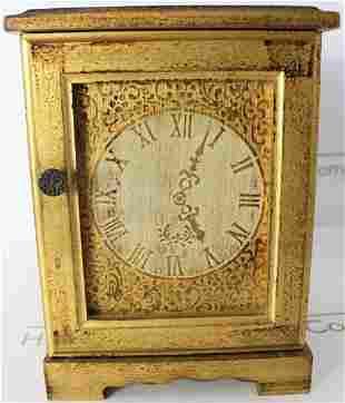 Antique Italian Gilt Wood Jewelry Music Box