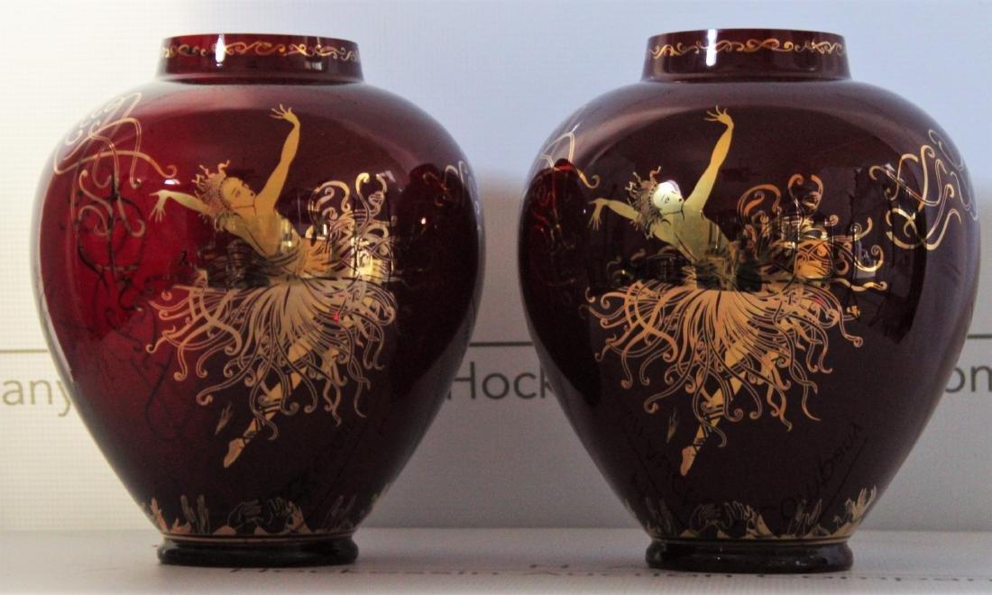 Erte Art Deco Vases