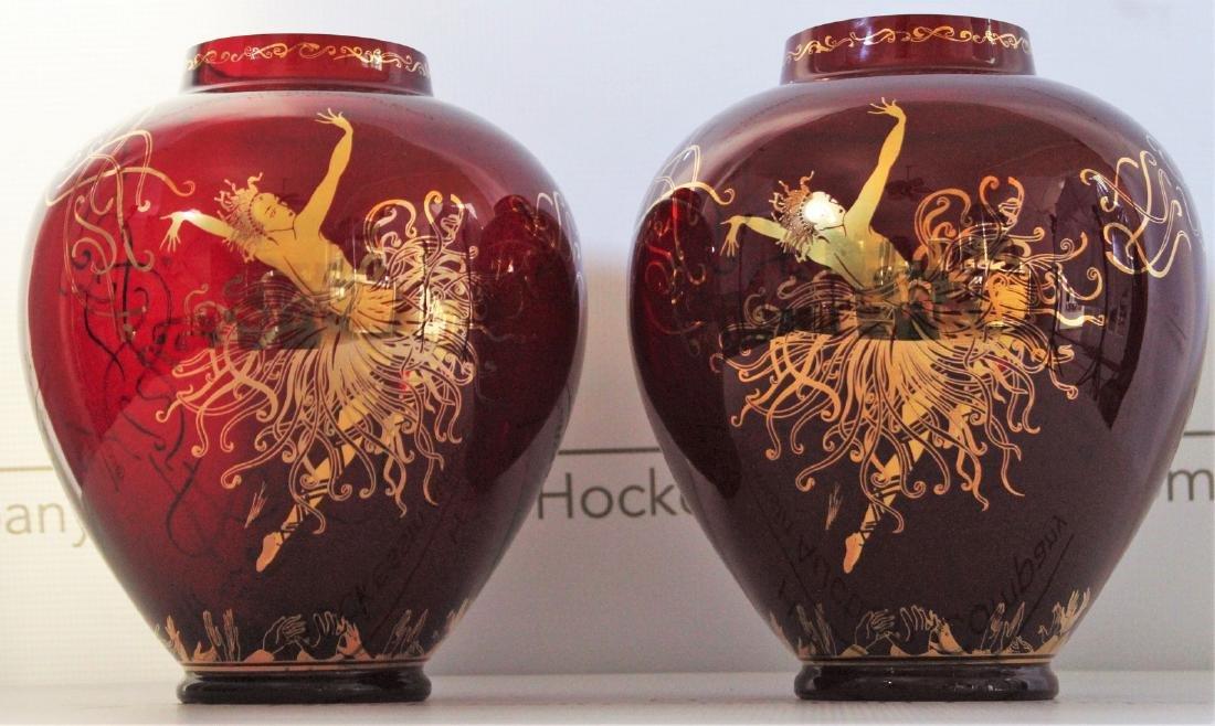 Erte Art Deco Vases - 2