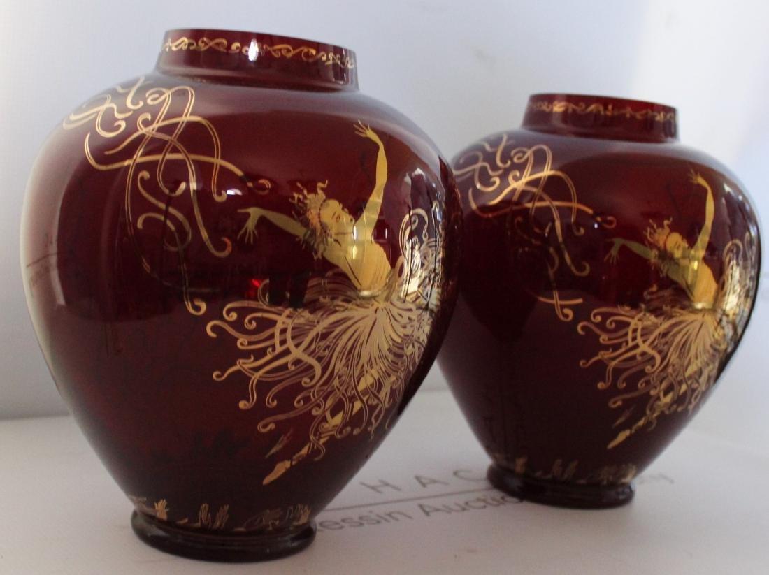 Erte Art Deco Vases - 9