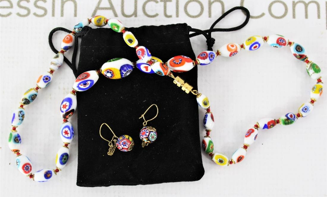 Vintage Beaded Necklace and Earrings