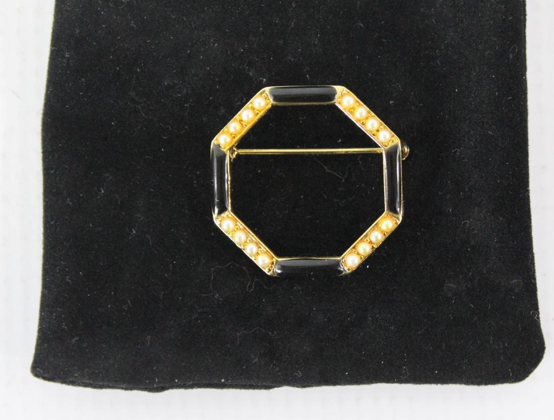 Black Onyx Stone Brooch