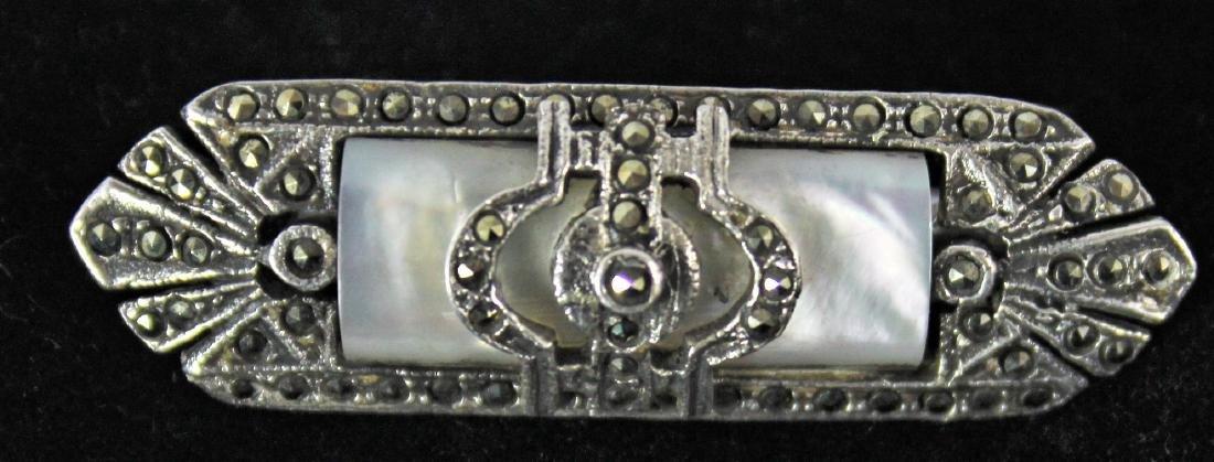 Sterling Silver Art Deco Brooch