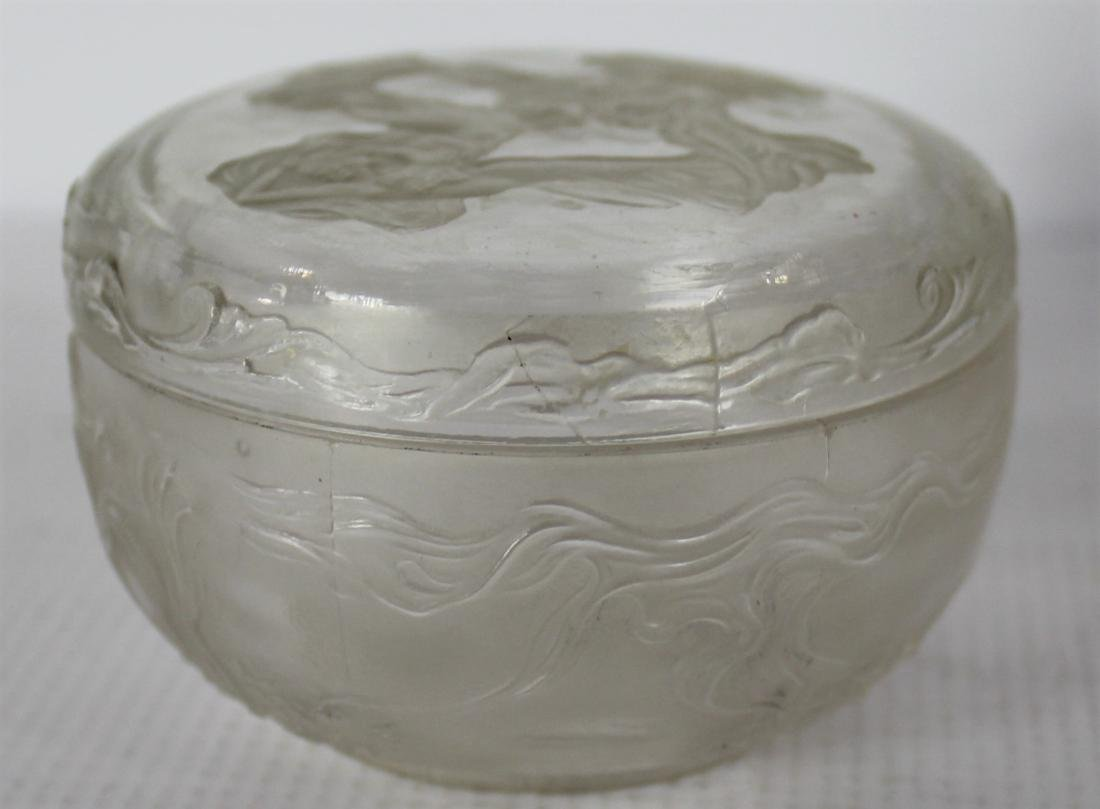 Lalique Glass Lidded Jar