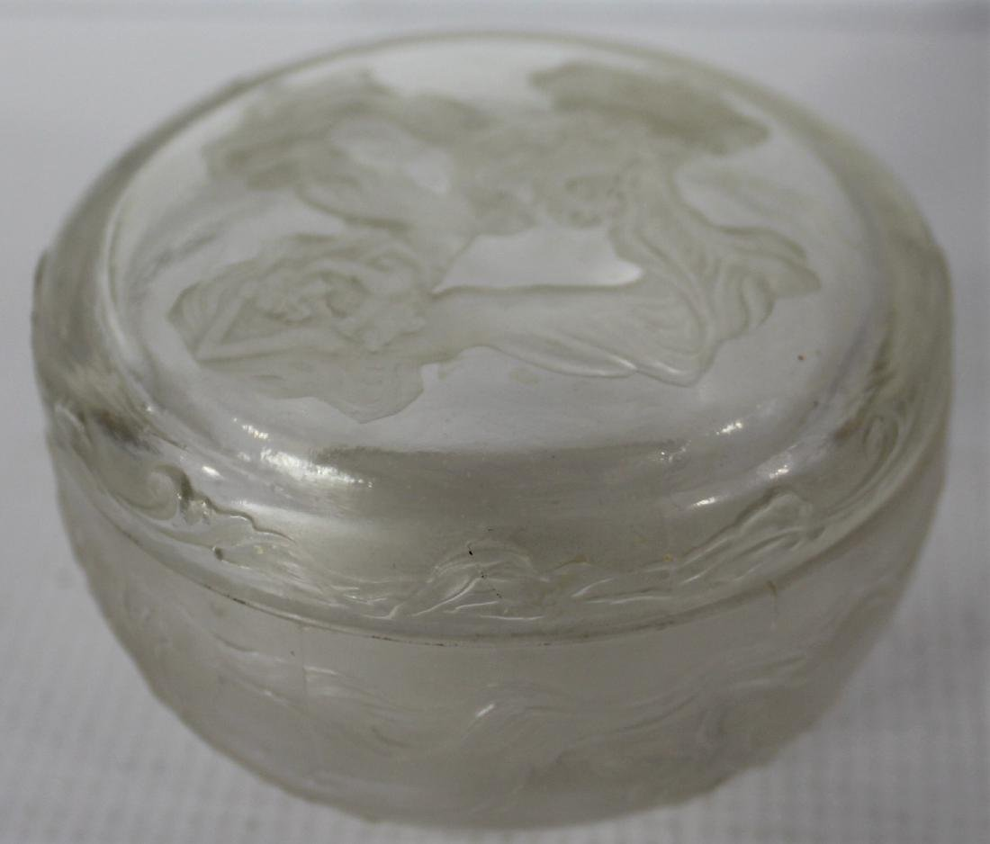 Lalique Glass Lidded Jar - 2