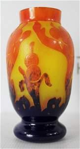Le Verre Francais Floral Vase