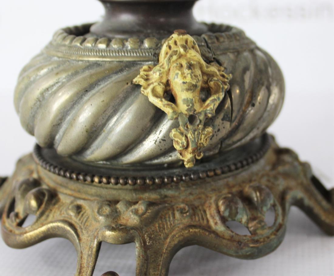 Antique Art Nouveau Nautilus Shell Lamp - 8