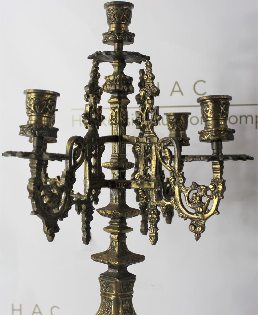 Pair of 19th C. French Gilt Bronze Candelabra - 3